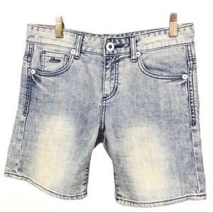 Guess Los Angeles Ice Wash Denim Shorts Size 25